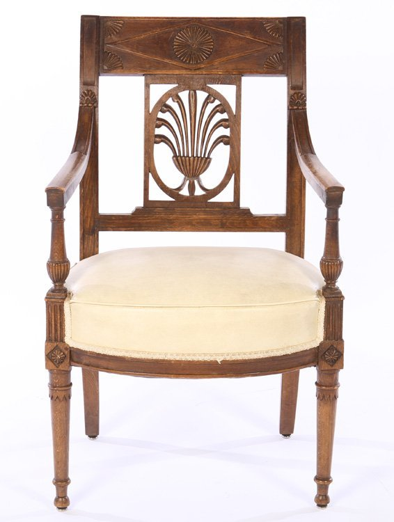 PAIR FRENCH DIRECTOIRE ARM CHAIRS 1920 - 3