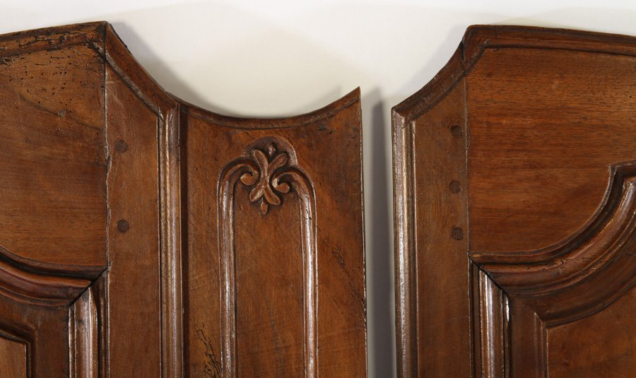 19TH CENT. FRENCH CARVED WALNUT DOORS - 3
