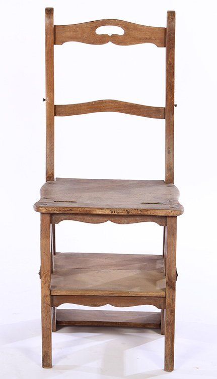 FRENCH METAMORPHIC CHAIR STEP LADDER - 3