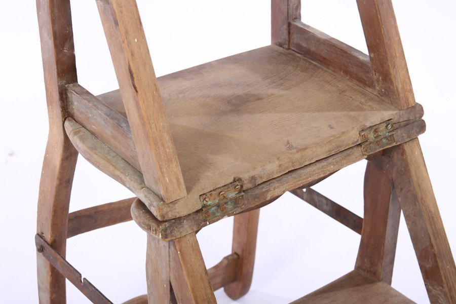 FRENCH METAMORPHIC CHAIR STEP LADDER - 4