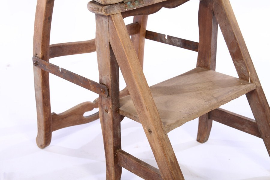 FRENCH METAMORPHIC CHAIR STEP LADDER - 5