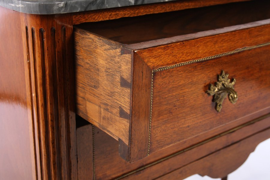 19TH C FRENCH DIRECTOIRE COMMODE MARBLE TOP - 4