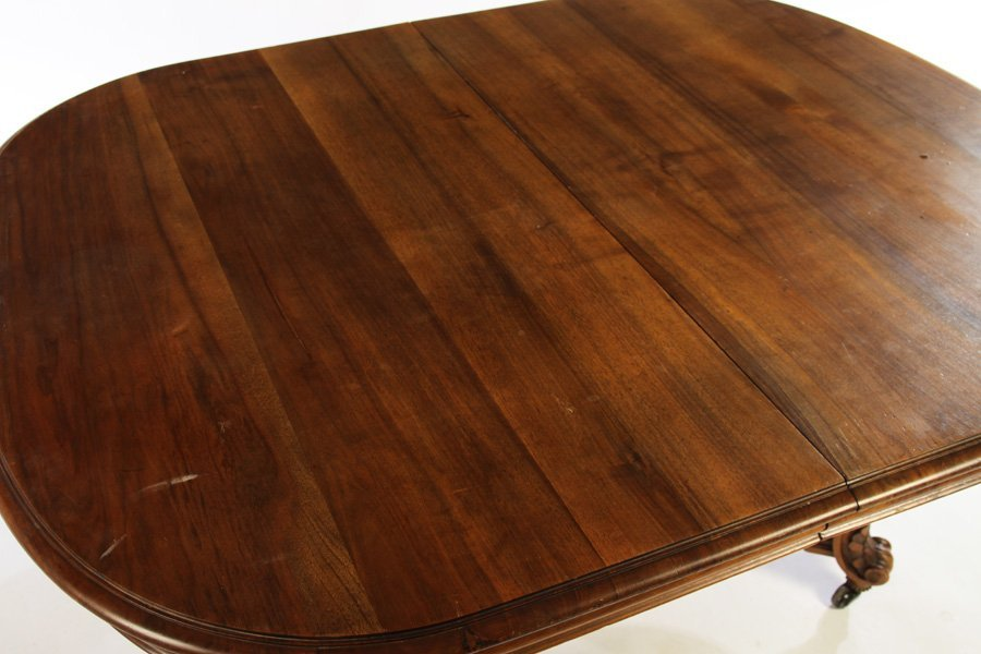 FRENCH 19TH CENT. LOUIS XV WALNUT DINING TABLE - 3