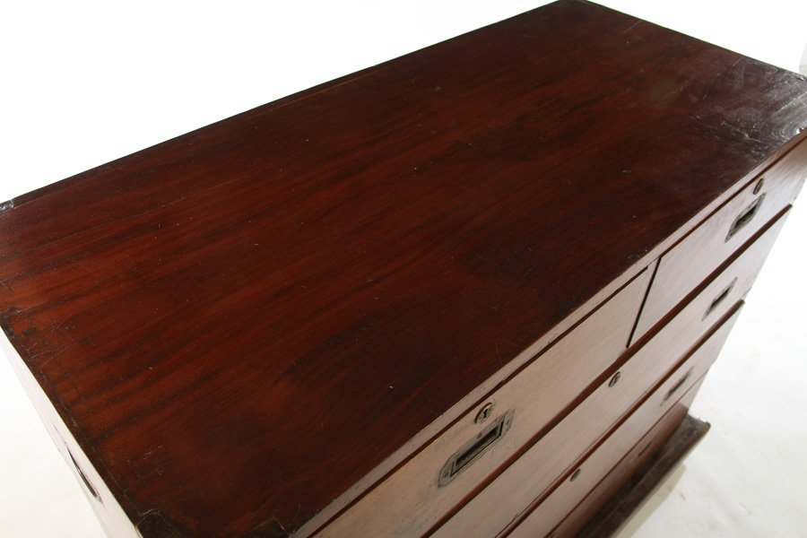 BRITISH COLONIAL CAMPAIGN DESK 5 DRAWERS - 3