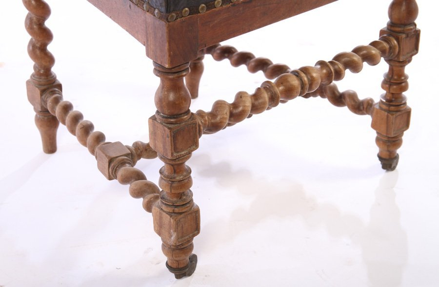 SET 15 FRENCH CARVED WALNUT DINING CHAIRS 1900 - 7