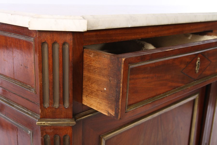 PAIR 19TH CENT. FRENCH DIRECTOIRE SERVERS MARBLE - 5