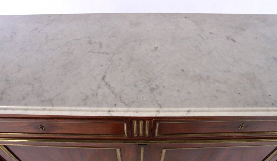 PAIR 19TH CENT. FRENCH DIRECTOIRE SERVERS MARBLE - 8