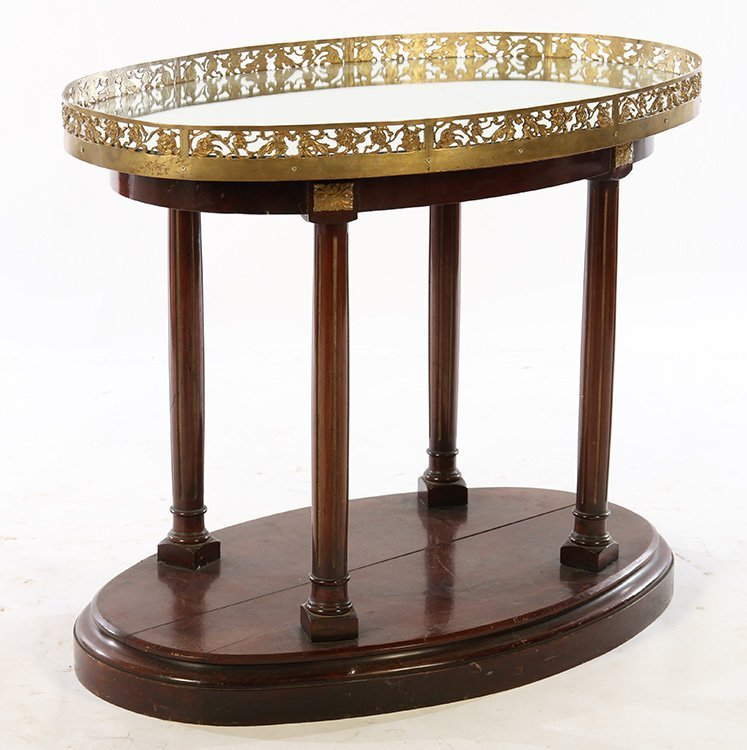 DIRECTOIRE CENTER TABLE BRONZE PLATEAU COLUMN LEG