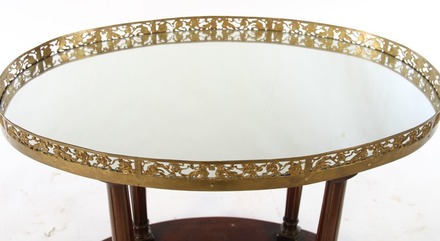 DIRECTOIRE CENTER TABLE BRONZE PLATEAU COLUMN LEG - 3