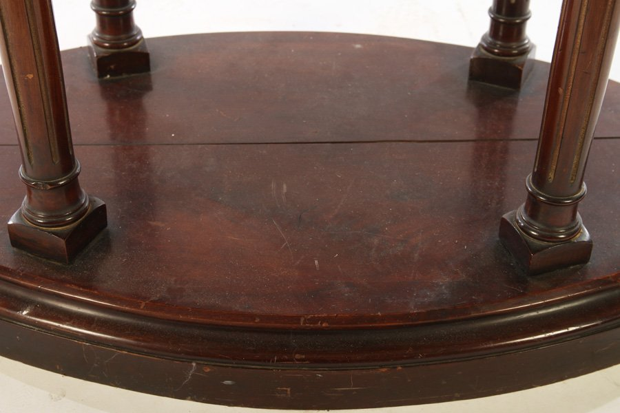 DIRECTOIRE CENTER TABLE BRONZE PLATEAU COLUMN LEG - 5