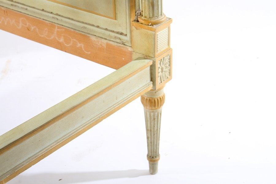LOUIS XVI CARVED PAINTED DAYBED 1940 - 4