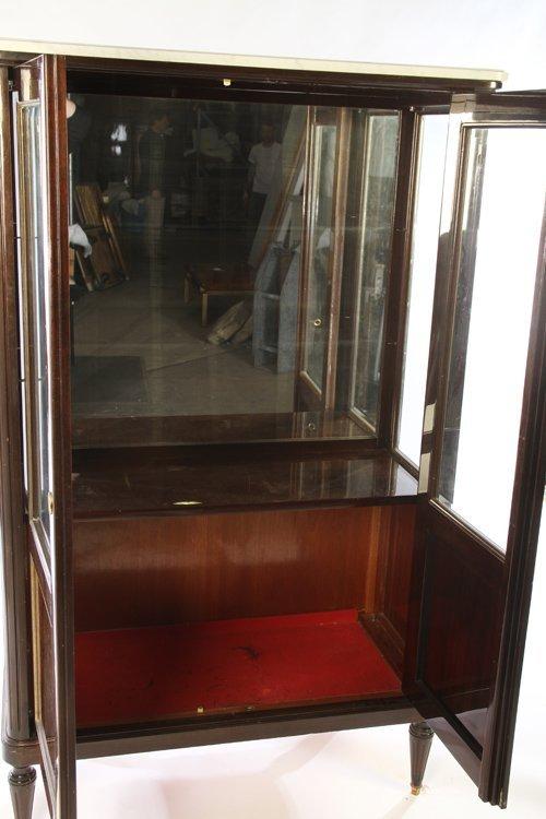 DIRECTOIRE STYLE MAHOGANY VITRINE MARBLE TOP 1910 - 4