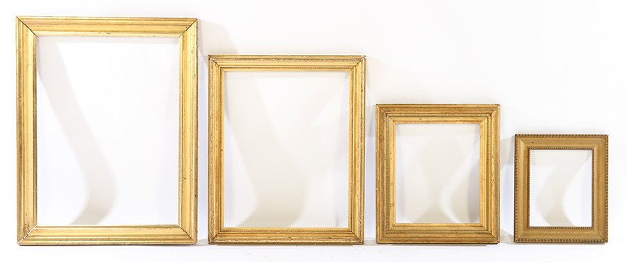 LOT OF EIGHT GILT WOOD FRAMES 19TH CENTURY - 2