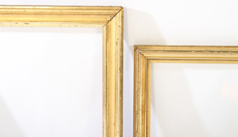 LOT OF EIGHT GILT WOOD FRAMES 19TH CENTURY - 3