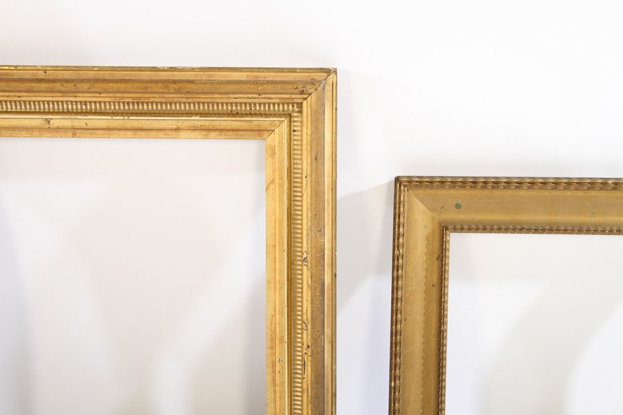 LOT OF EIGHT GILT WOOD FRAMES 19TH CENTURY - 4