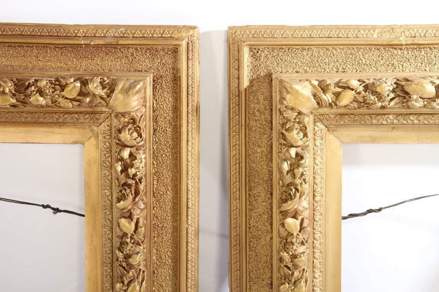 LOT OF EIGHT GILT WOOD FRAMES 19TH CENTURY - 7