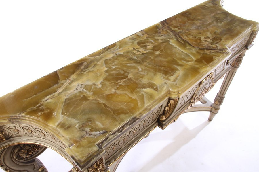 LOUIS XVI GILTWOOD PAINTED CONSOLE TABLE 1920 - 3