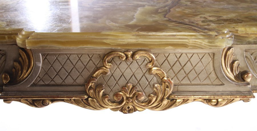 LOUIS XVI GILTWOOD PAINTED CONSOLE TABLE 1920 - 4