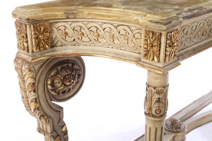 LOUIS XVI GILTWOOD PAINTED CONSOLE TABLE 1920 - 5
