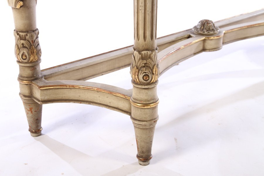 LOUIS XVI GILTWOOD PAINTED CONSOLE TABLE 1920 - 6