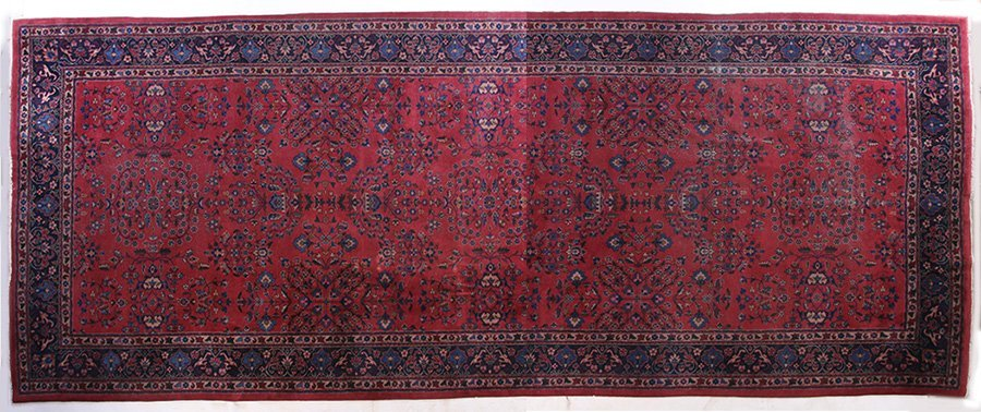 LARGE ROOM SIZED ORIENTAL RUG FLORAL DECORATED