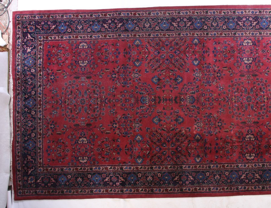 LARGE ROOM SIZED ORIENTAL RUG FLORAL DECORATED - 2