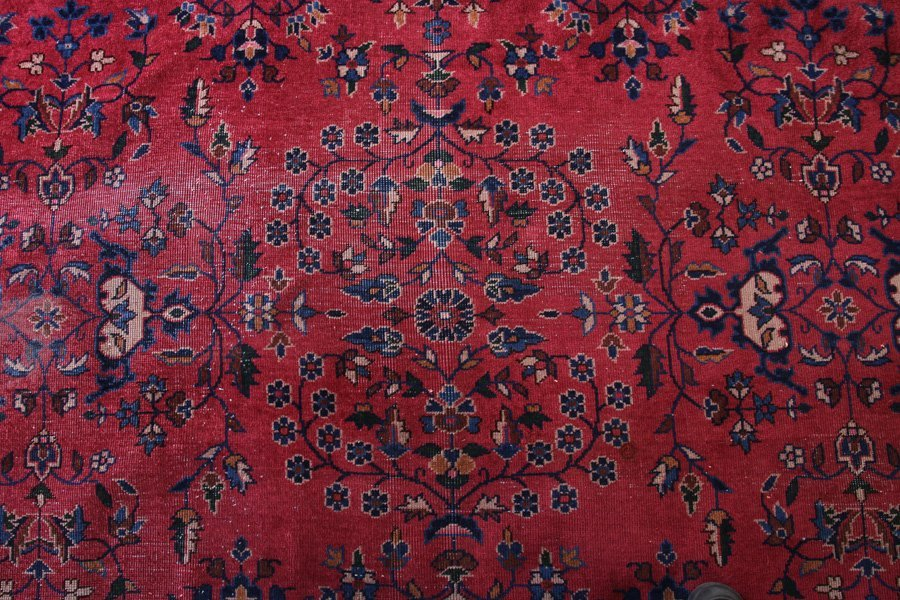 LARGE ROOM SIZED ORIENTAL RUG FLORAL DECORATED - 4