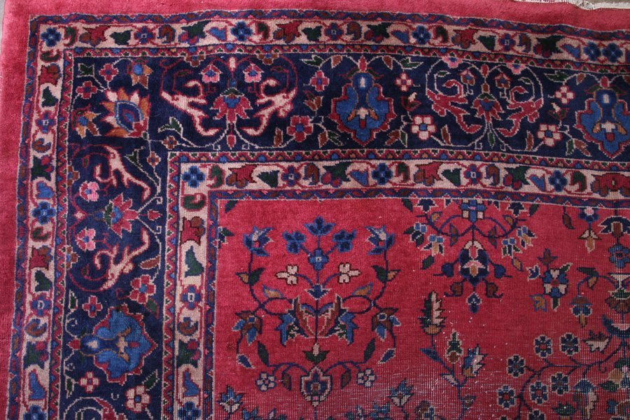LARGE ROOM SIZED ORIENTAL RUG FLORAL DECORATED - 5