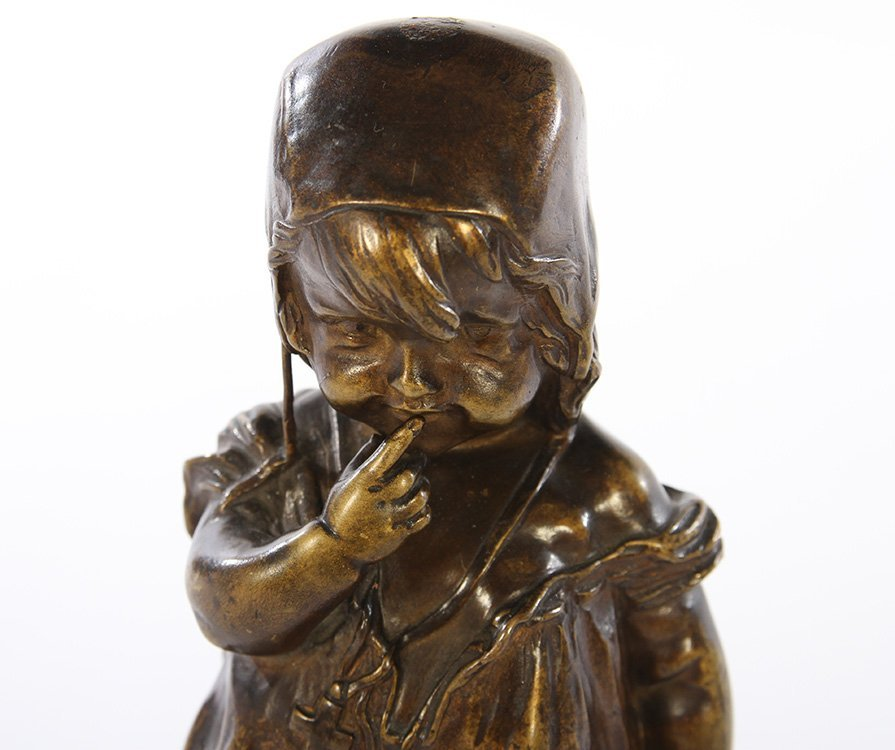 BRONZE STATUE OF YOUNG GIRL - 2