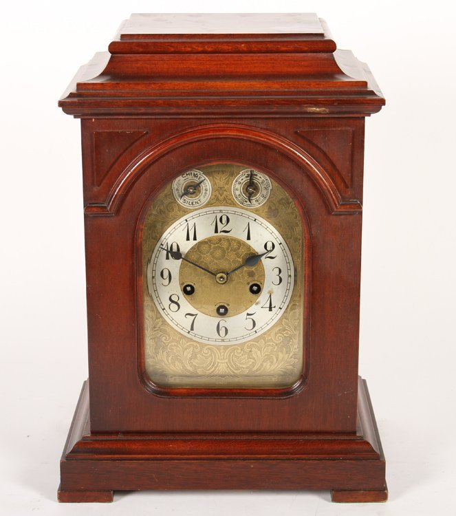MANTLE CLOCK IN MAHOGANY BY JUNGHANS C 1900