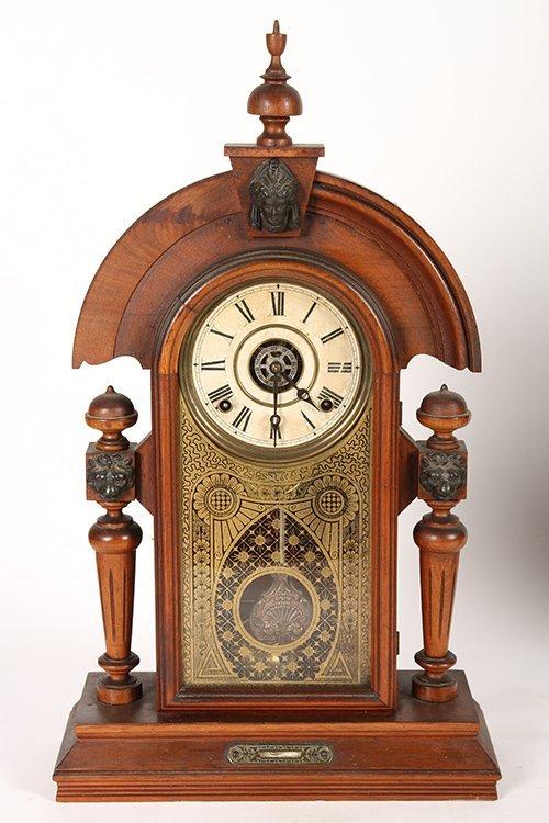 2 VICTORIAN CLOCKS BY GILBERT & INGRAHAM C 1890 - 2
