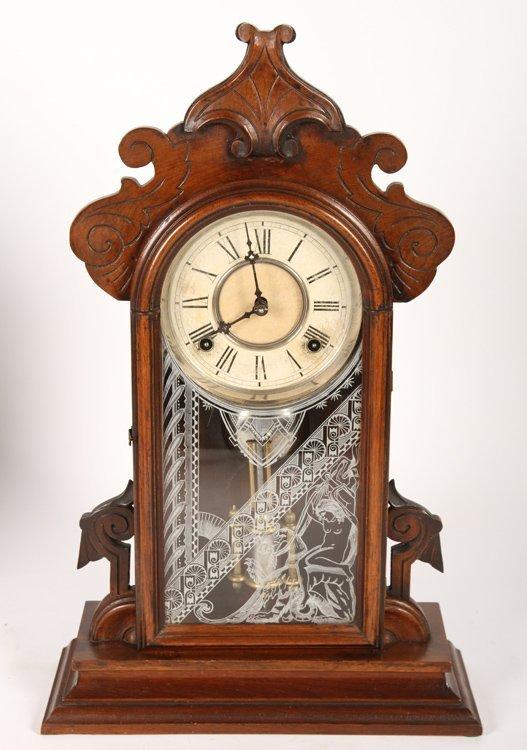 2 VICTORIAN CLOCKS BY GILBERT & INGRAHAM C 1890 - 5