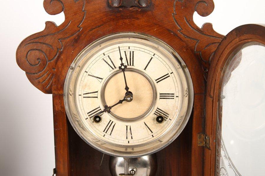2 VICTORIAN CLOCKS BY GILBERT & INGRAHAM C 1890 - 6