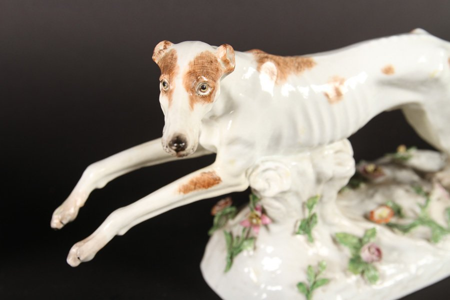 5 PORCELAIN ITEMS ROYAL COPENHAGEN BORZOI 1940 - 2