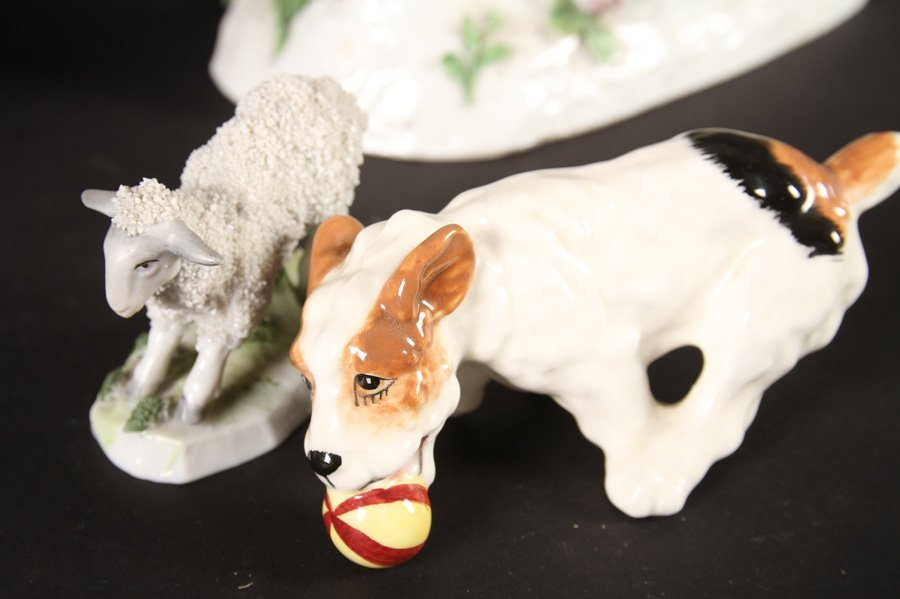 5 PORCELAIN ITEMS ROYAL COPENHAGEN BORZOI 1940 - 4