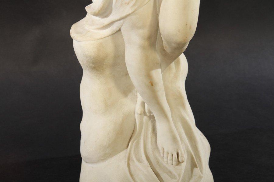 ART NOUVEAU CAST MARBLE DUST FIGURE WOMAN - 4
