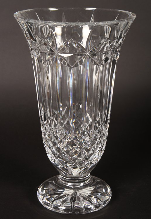 TWO LARGE CRYSTAL VASES BY WATERFORD - 2