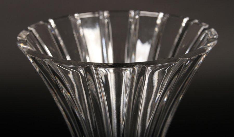 TWO LARGE CRYSTAL VASES BY WATERFORD - 5