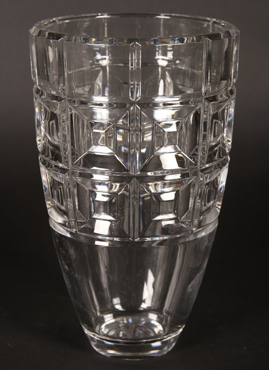 TWO LEAD CRYSTAL VASES BY ROSENTHAL CIRCA 1990 - 2