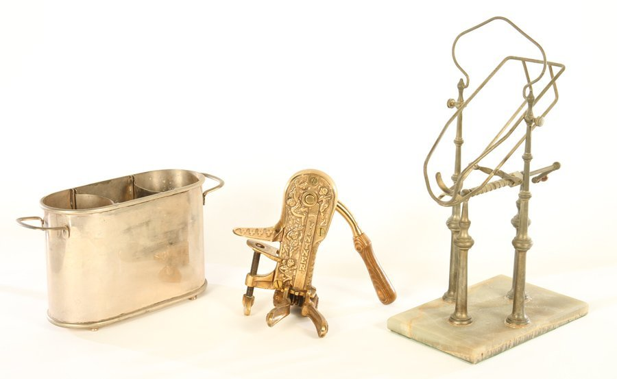 3 PC LOT OF VARIOUS BAR ITEMS CIRCA 1920
