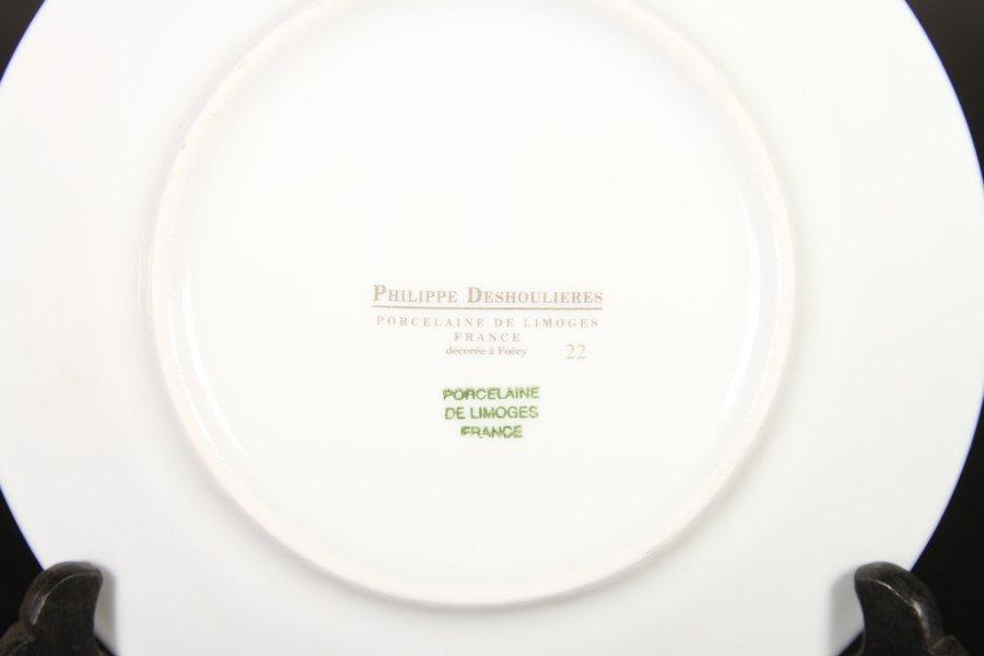 16 PORCELAIN PLATES & 6 STERLING ITEMS C 1930 - 5