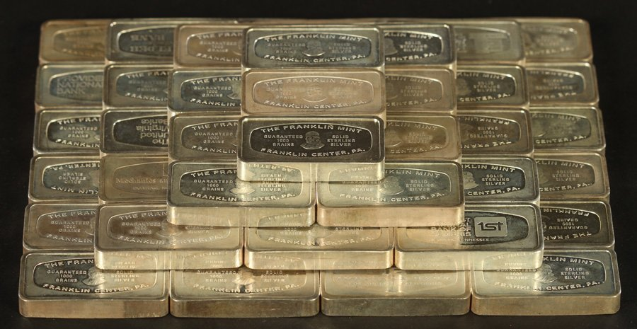50 STERLING SILVER INGOTS 106 TROY OZ