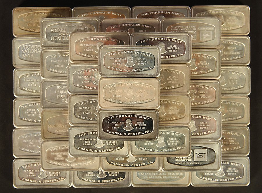 50 STERLING SILVER INGOTS 106 TROY OZ - 2