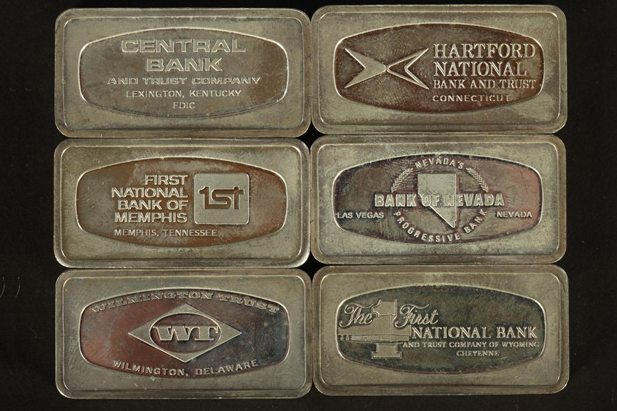 50 STERLING SILVER INGOTS 106 TROY OZ - 5