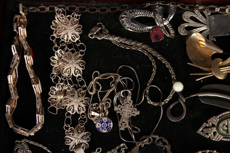 37 STERLING SILVER JEWELRY ITEMS C.1930-1940 - 5