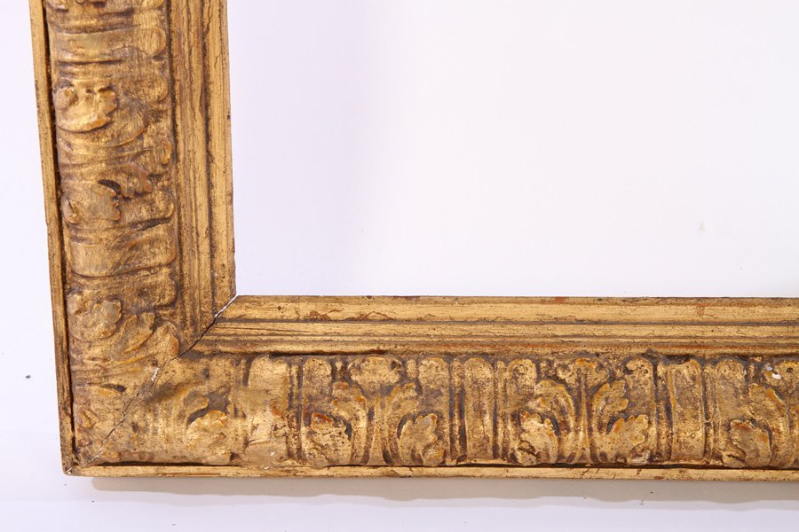 LARGE GILTWOOD CARVED GESSO DECORATED FRAME - 2
