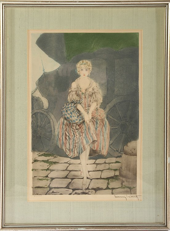 """LOUIS ICART """"MANON"""" SIGNED COLOR ETCHING"""