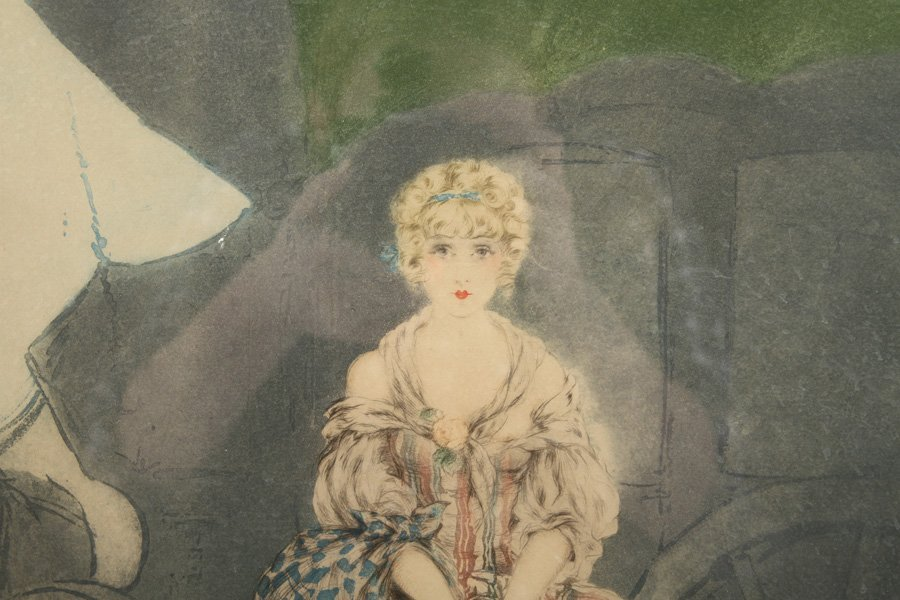 """LOUIS ICART """"MANON"""" SIGNED COLOR ETCHING - 2"""
