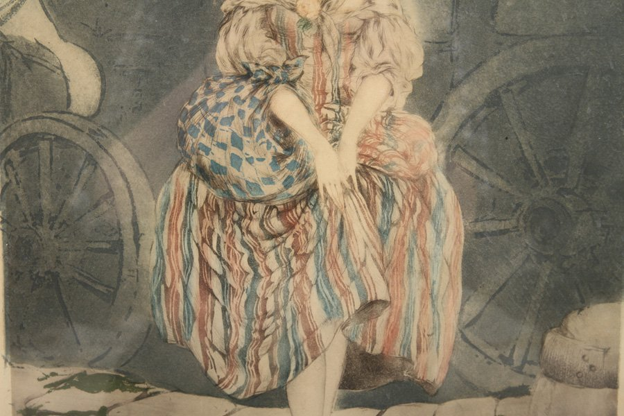 """LOUIS ICART """"MANON"""" SIGNED COLOR ETCHING - 3"""