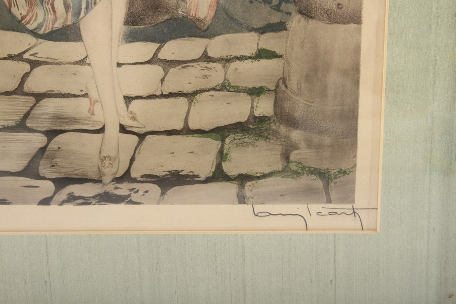 """LOUIS ICART """"MANON"""" SIGNED COLOR ETCHING - 4"""